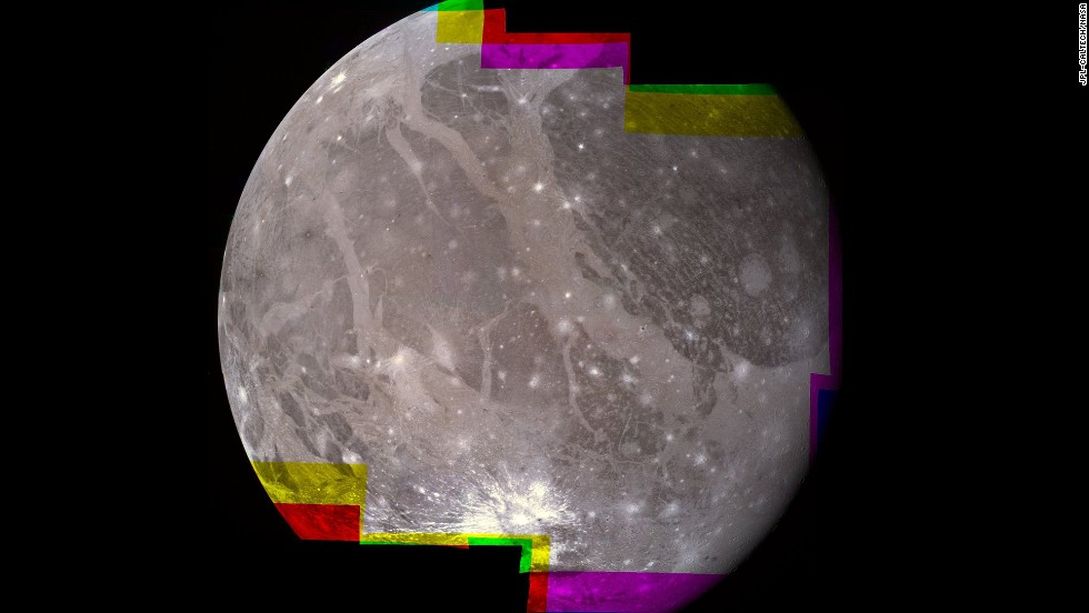 Ganymede, the largest of Jupiter's moons, is the largest moon in our solar system.