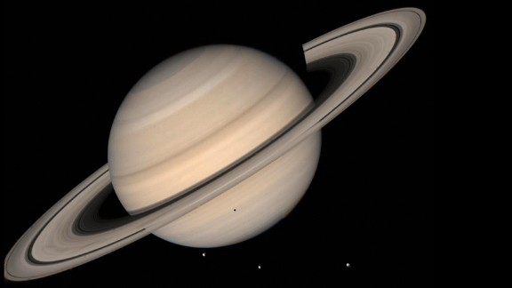 This August 1998 NASA file image shows a true color photo of Saturn assembled from the Voyager 2 spacecraft.