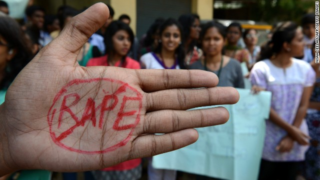 Indian students of Saint Joseph Degree college participate during an anti-rape protest in Hyderabad on September 13, 2013. An Indian judge will consider the sentences for four men found guilty of the brutal gang rape and murder of an Indian student on a bus, as the victim's family leads calls for them to be hanged. AFP PHOTO / Noah SEELAM (Photo credit should read NOAH SEELAM/AFP/Getty Images)