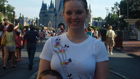 "After her divorce, the author saved all year to take her son to Disney World. ""I was very aware that as a single mom, I would have to struggle to support us, and this was my way of proving to myself that I would still be able to make wonderful memories,"" she said."
