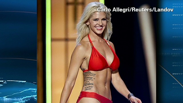 Miss Kansas tatted and expert shot
