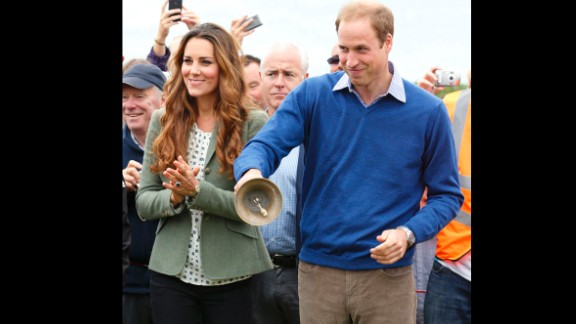 William and Catherine start an ultra marathon in Holyhead, Wales, in August 2013. It was Catherine