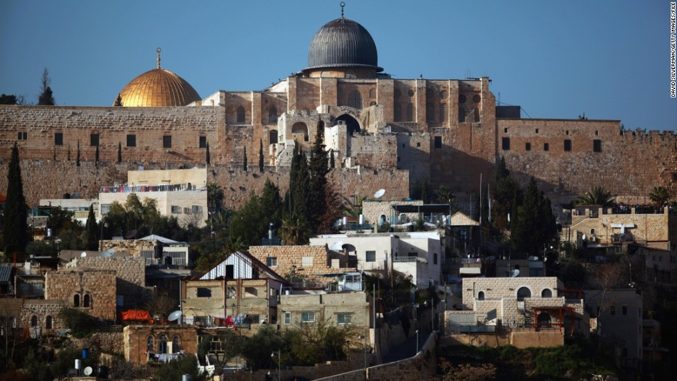 Al-Aqsa mosque and the Dome of the Rock are seen in March 2010.