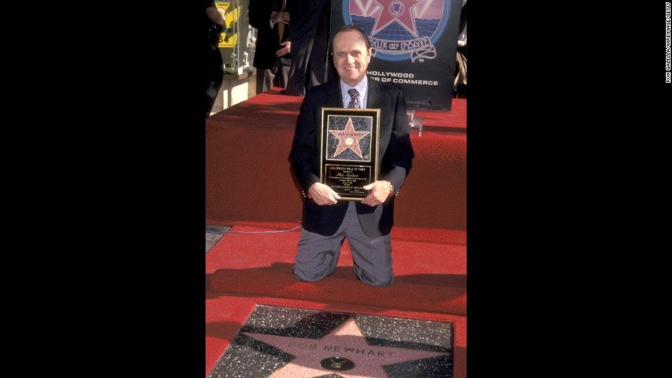 Newhart receives a star on the Hollywood Walk of Fame in 1999.