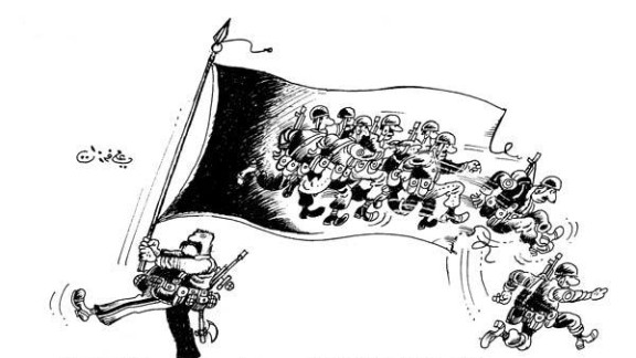 Currently living in exile in Kuwait, Ferzat continues to satirize the Syrian regime with his comics.