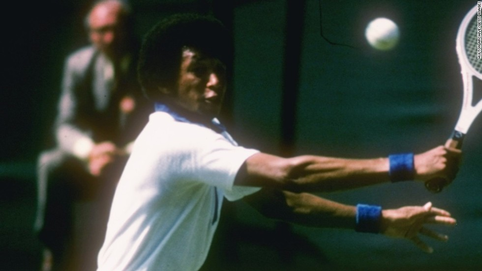 Ashe won three grand slams during his career. As well as the U.S. Open, he won the Australian Open in 1970, before his stunning victory over Connors in the 1975 Wimbledon final -- regarded as his greatest triumph.