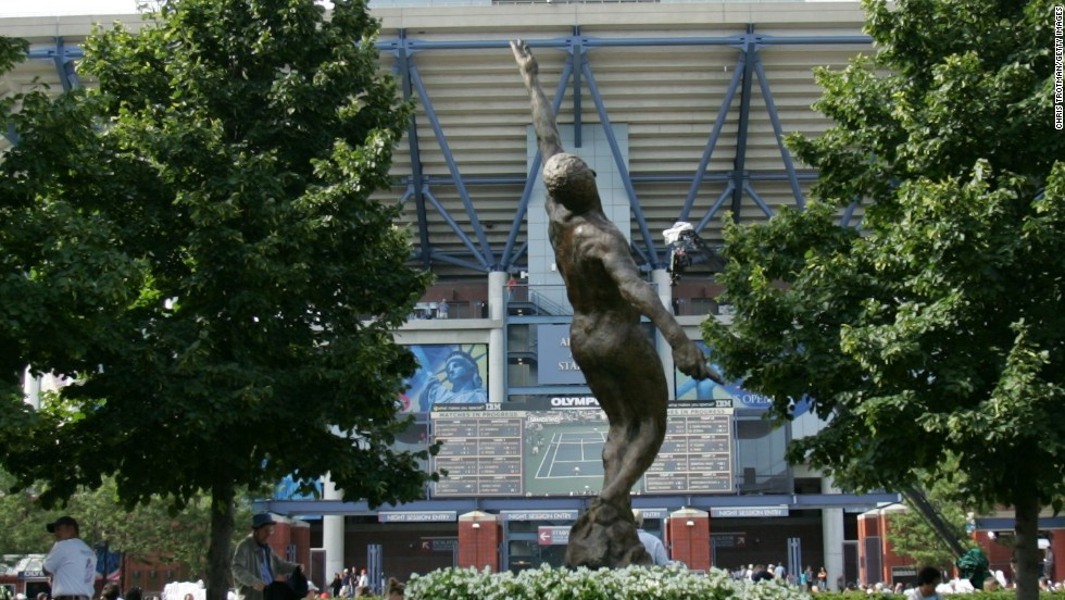 Only two black men -- Ashe and Frenchman Yannick Noah -- have ever won a grand slam. To mark  Ashe's legacy a statue of him is on show at the United States National Tennis Center at Flushing Meadows in New York.