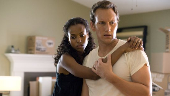"Washington and Patrick Wilson play a married couple in the 2008 crime drama ""Lakeview Terrace."""