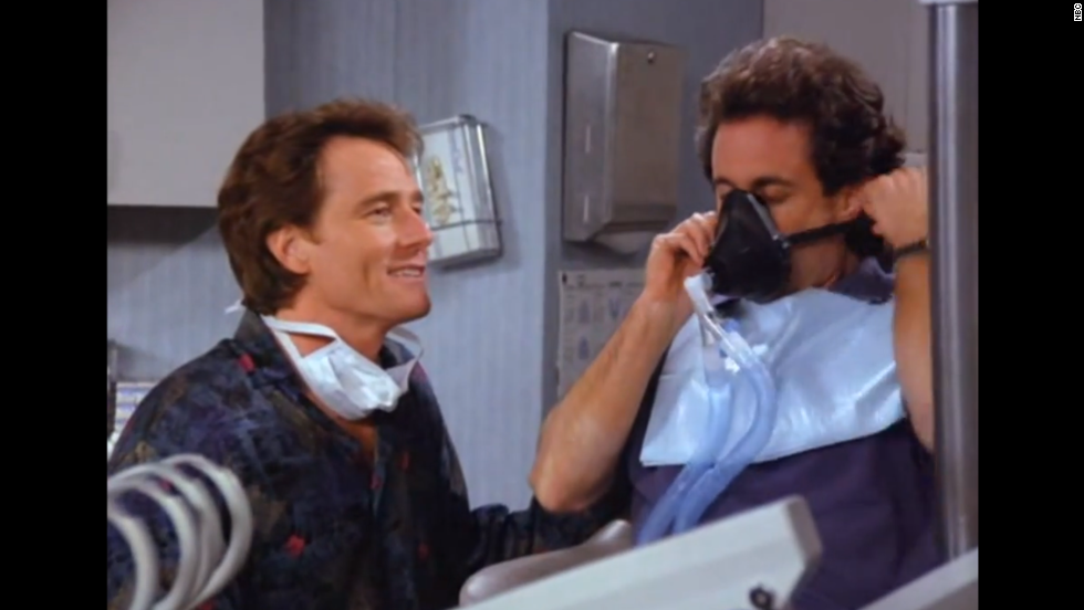 "Bryan Cranston has a memorable reoccurring role in ""Seinfeld"" as Jerry's dentist, Dr. Tim Whatley. Among his storylines: He is caught ""regifting"" a label maker, stocking his dentist's office with pornographic magazines, throwing a party Jerry may or may not have been invited to and accusing Jerry of being an anti-dentite (biased against dentists). Cranston later won three Emmys for best actor as Walter White in ""Breaking Bad."""