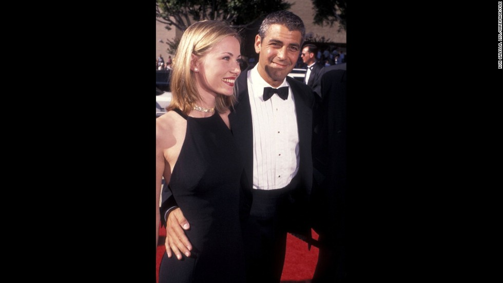 "George Clooney, who was starring in ""ER"" at the time, attended the 1996 Emmys with French girlfriend, Celine Balitran. He was nominated for outstanding lead actor in a drama series for the second time."
