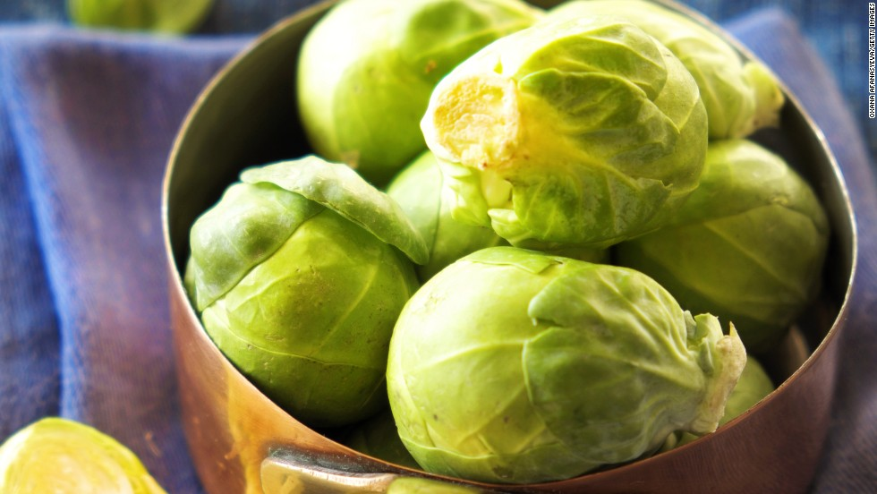"<strong>Brussels sprouts</strong>: Made the correct way, these veggies taste divine. They have a mild, somewhat bitter taste, so combine them with tangy or savory sauces, like balsamic vinegar. <br /><br />Health benefits include<br /> • 1/2 cup contains more than your DRI of vitamin K<br /> • Very good source of folate<br /> • Good source of iron<br /><br />Harvest season: September to March<br /><br /><a href=""http://www.health.com/health/gallery/0,,20306795,00.html"" target=""_blank"">Health.com: Family-friendly meals</a>"