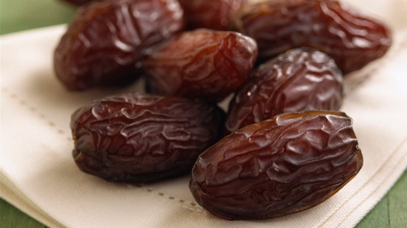 Dates: This Middle Eastern favorite is a sweet fruit that is perfect braised in stews, chopped up in desserts or stuffed with cream cheese or almonds.   Health benefits include  • Low in fat  • Good source of fiber  • Good source of potassium    Harvest season: September to December