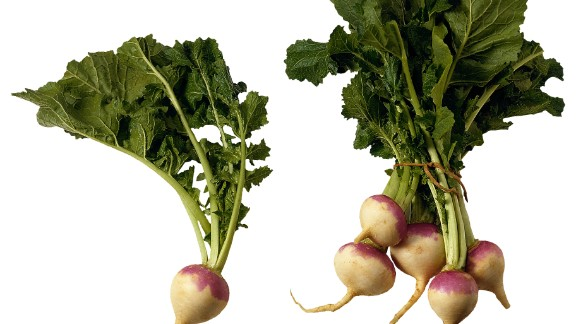 Turnips: Tender and mild, these root vegetables are a great alternative to radishes and cabbage. To flavor these veggies, use fennel, bread crumbs or even brown sugar. Turnip leaves, which taste like mustard leaves, are easy to cook and dense in nutrients.   Health benefits include • The roots are a good source of vitamin C  • Turnip leaves are an excellent source of vitamins A, K and folate    Harvest season: September to April
