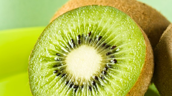 Kiwi: Use this sweet fruit to add a tropical flavor to your recipes. It's great mixed with strawberries, cantaloupe or oranges and can be combined with pineapple to make a tangy chutney.   Health benefits include • More vitamin C than an orange  • Good source of potassium and copper   Harvest season: September to March  Health.com: Satisfying snacks for every craving