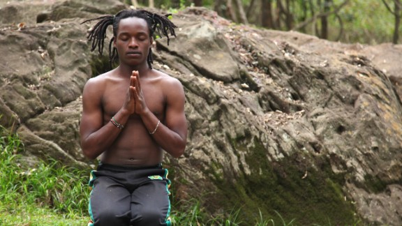 """""""I feel like I have a job that has given me a purpose for life,"""" says Walter Mugwe, instructor with the Africa Yoga Project. """"A job that gives me a definition of who I should be in the world, a service for others, uplifting for others."""""""