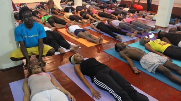More than 300 classes are being taught every week. Thousands of people flock to the headquarters to learn how to relax and better cope with their lives.