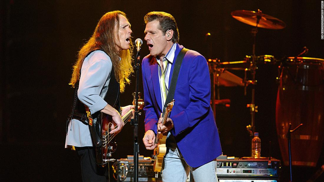 "The Los Angeles rock band <strong>The Eagles</strong> (including Timothy B. Schmit, left, and Glenn Frey, pictured) created some of the most iconic music of the 1970s, including the hits ""One of These Nights,"" ""Lyin' Eyes"" and ""Take it Easy."" The band had to postpone their tribute this year due to Frey's health issues."