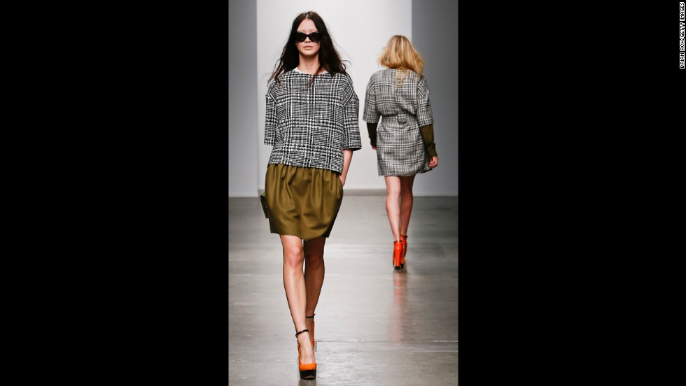 Karen Walker's fall 2013 show during Mercedes-Benz Fashion Week in February.