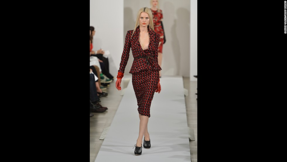 Oscar de la Renta's fall 2013 show during Mercedes-Benz Fashion Week in February.