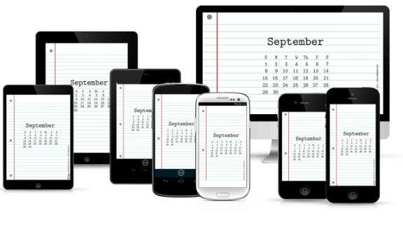 """What day is it? <a href=""""https://www.redstamp.com/desktop-calendars"""" target=""""_blank"""" target=""""_blank"""">Red Stamp's calendar wallpaper</a> can be updated each month to keep your calendar on track."""