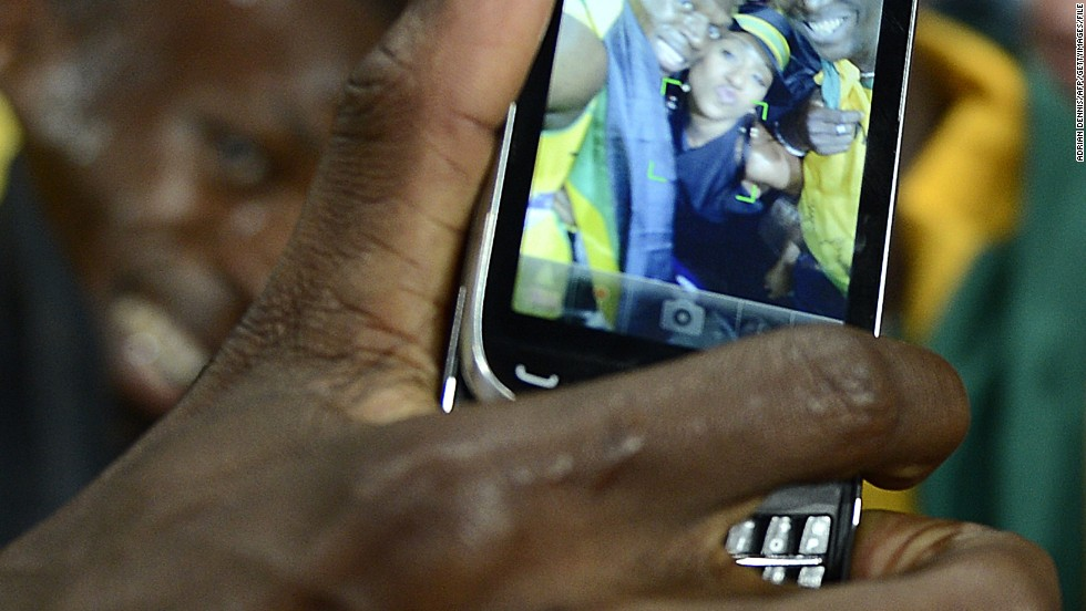 "Sochi will be following in the footsteps of the London 2012 Olympics, which was heralded as the ""first social media Games."" Here sprint star Usain Bolt is seen captured on a spectator's smartphone."