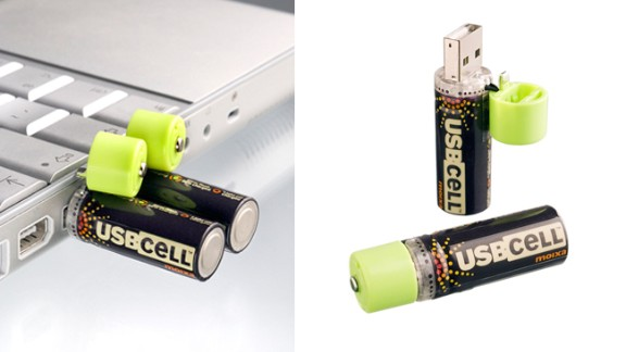 So simple yet so effective, like all the best designs, USBCELL is a battery that can be charged via USB so you never need to throw them away.