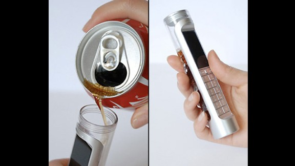 The designers at Phonebloks are not the only ones seeking a solution to the planet's growing e-waste problem. One of the zanier concepts by Daizi Zheng is a phone powered by a 'bio battery' that feeds on the sugars and enzymes in Coca Cola and  it's supposed to last 3-4 times longer than a lithium battery.
