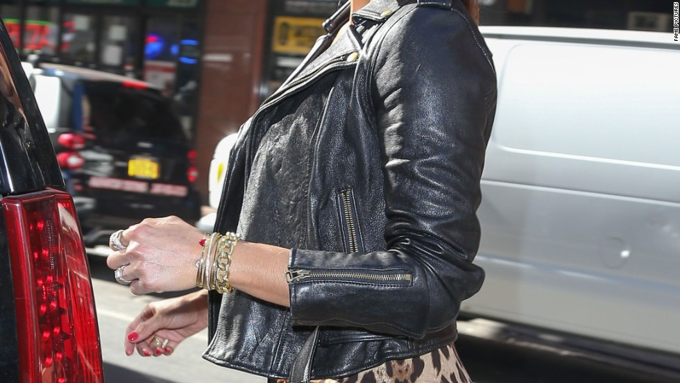 "Paula Patton shows her ""wild"" side as she leaves NBC's ""Today"" show on September 18."