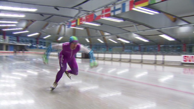 Taking gold in speed skating