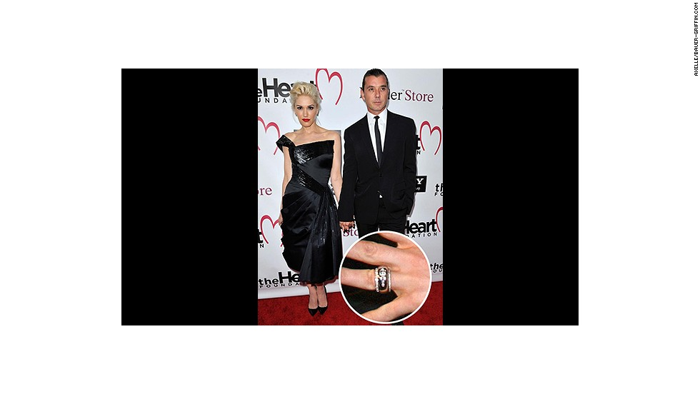 Gavin Rossdale designed this unique diamond-studded gold ring before proposing to Gwen Stefani in 2002. <br />