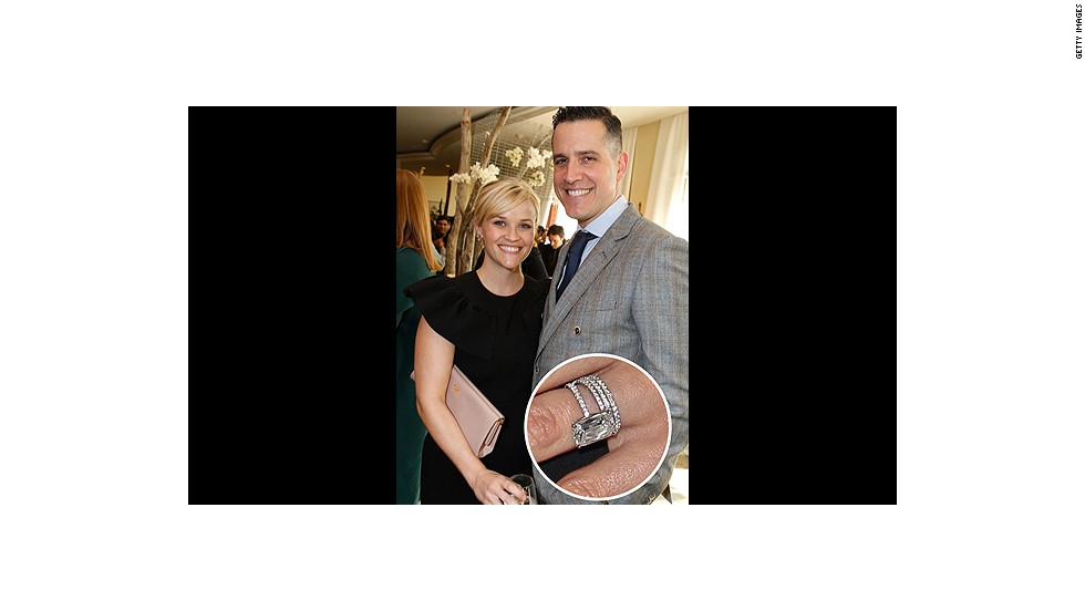 "Jim Toth secured his spot in Reese Witherspoon's heart with this four-carat stunner. -- See even more celebrity engagement rings at <a href=""http://www.elle.com/pop-culture/best/top-25-celebrity-engagement-rings"" target=""_blank"">Elle.com</a><br />"