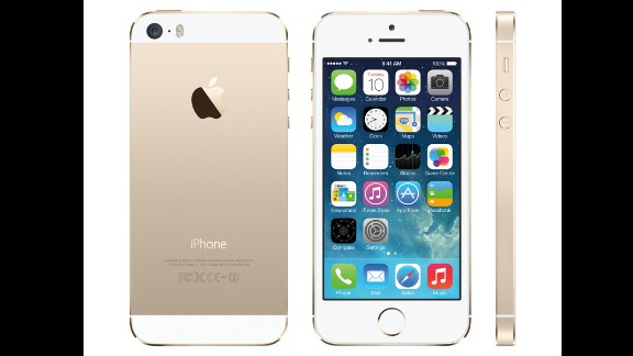 The iPhone 5S went on sale September 20 in 11 countries and territories around the world. The gold-colored model, shown here, is already back-ordered online.