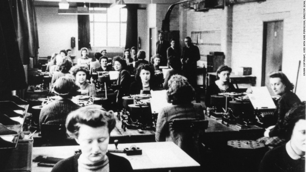 Many Women Were Conscripted Into Work At Bletchley Park During World War II Where The