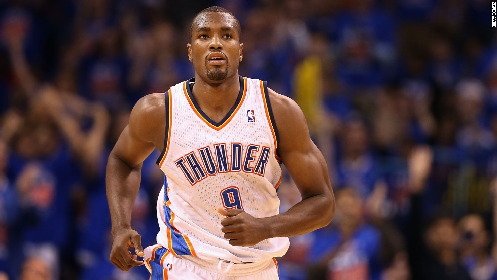 Serge Ibaka of the Oklahoma City Thunder was born in the Republic of the Congo, though he represents Spain in international competition.