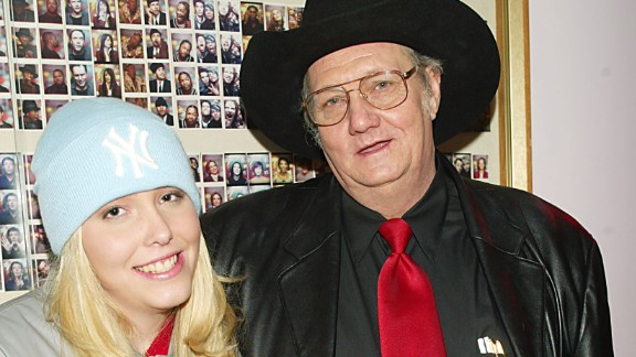 "Powerball winner Andrew ""Jack"" Whittaker with his granddaughter Brandi Bragg backstage after their appearance on MTV's ""TRL"" in December of 2002."