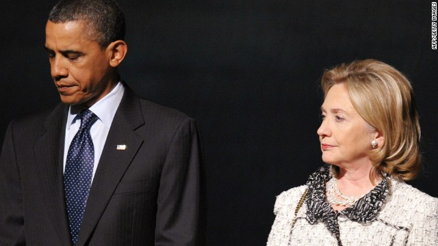 Clinton breaks with Obama policy