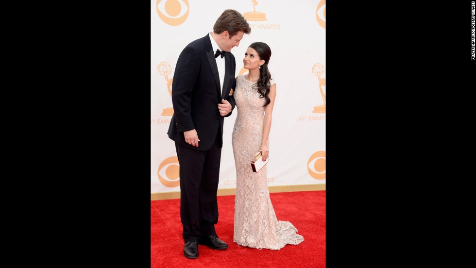 """Castle"" star Nathan Fillion and Mikaela Hoover"