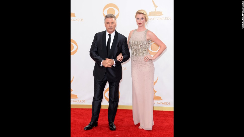 """30 Rock"" star Alec Baldwin with his daughter Ireland. Baldwin was a presenter and a nominee for best actor in a comedy series."