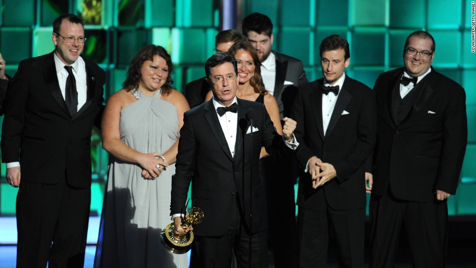 "Outstanding variety series and outstanding writing for a variety series: ""The Colbert Report"""