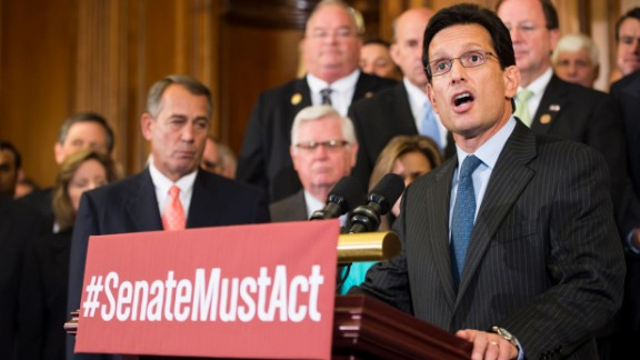 Rep. Eric Cantor, R-Virginia -- The powerful lieutenant. Cantor, the House Republican No. 2, is much more closely allied with conservatives and tea party members in the House than is Speaker Boehner.  The two have not always agreed on every strategy during potential shutdown debates, but have been in public lockstep during the current go-around.