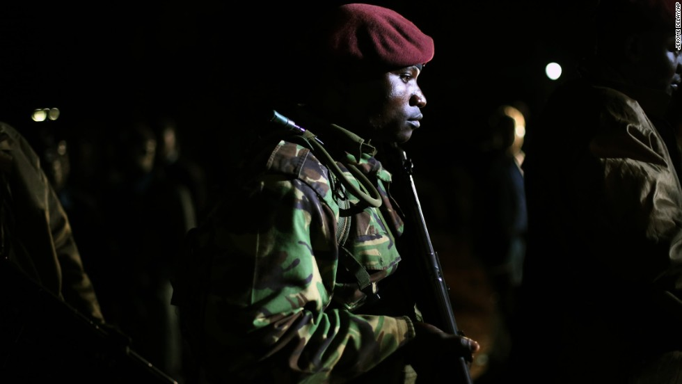Kenyan Defense Forces leave the mall on September 23.
