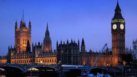 LONDON - JULY 26:  The Houses of Parliament are seen in the evening light on July 26, 2006.  (Photo by Chris Jackson/Getty Images)
