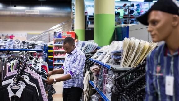 A customer browses men