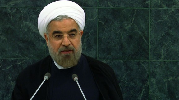 Iranian President Hassan Rouhani speaks to the United Nations General Assembly In New York on Tuesday, September 24.