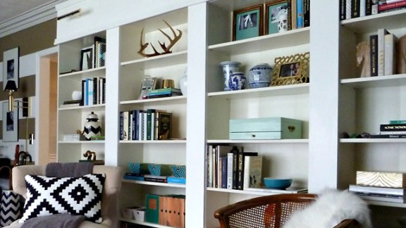 Kristin Cadwallader's library is constantly growing, she said, and she restyles her bookshelves all the time. Got a question about how she achieved this decor? Ask her in the comments section, below.