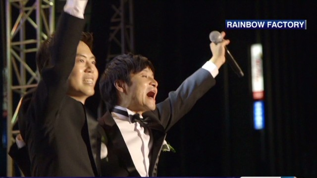 Same-sex couple stages wedding in Korea