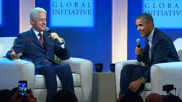 Clinton asks Obama about Obamacare