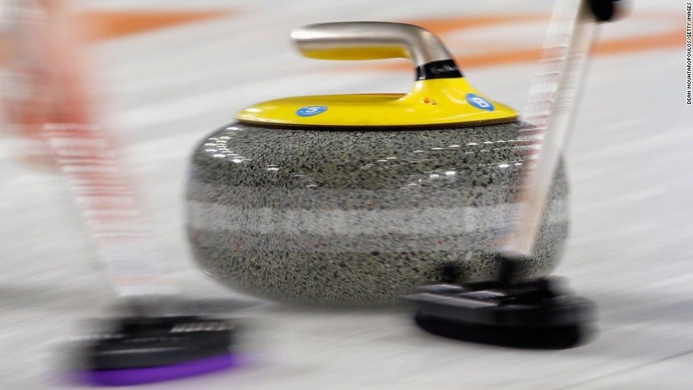 The purpose of sweeping is done to create friction on the ice, the motion of sweeping both harder and faster extending the journey of the stone, which can be as much as one meter  with the use of sweeping.