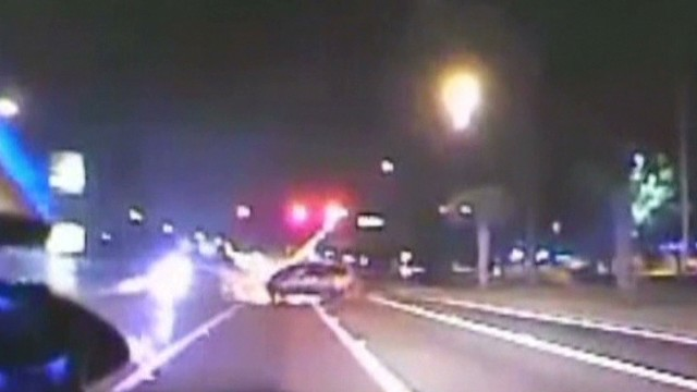 Scary crash ends 100 mph police chase