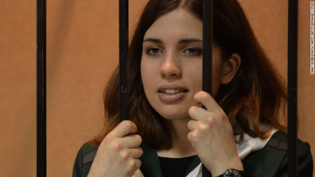 Pussy Riot's Nadezhda Tolokonnikova was hospitalized after launching a hunger strike this week.